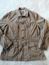 """Men's lightweight jacket Large chest 44"""" beige cotton blend button front multi p"""
