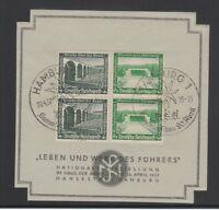 """[69162] GERMANY Mi. W121 x 2 on SOUVENIR CARD """"LEBEN und WERK des FÜHRERS"""""""