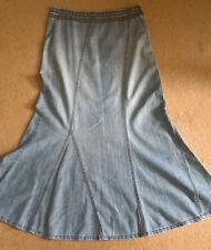 M&S per una Denim A lined  skirt size 8 r
