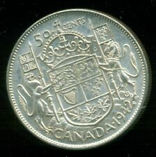 1942 King George VI, Silver Fifty Cent Piece,    I18