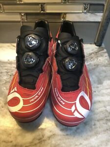 2020 PEARL IZUMI PRO LEADER III CYCLING SHOE Fits Peloton Bike Red Sz 8 (39)