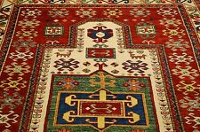 c1930s COLORFUL VEGY DYE CAUCASIAN SHIRVAN_KAZAK PRAYER AFGHAN CHOBI RUG 5.5x6.5