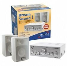 Verstärker mit Boxen, Lautsprecher Verstärker Set, Dynavox Dream Sound, Silber