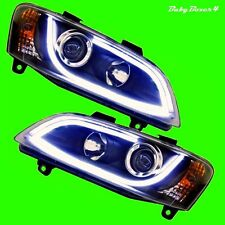 LED DRL Day Time Running BLACK Head lights Right Left Side Holden Commodore VE 1