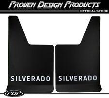 Chevrolet Silverado Z-71 1500, 2500 Mud Flaps, Chevy Silverado MUDFLAPS_ WHITE