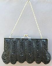 Nuevo con cuentas lentejuelas Noche handbag/purse/clutch Color: Negro # 3