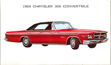 1964 Chrysler 300 Red CONVERTIBLE Black Top Original NOS Dealer Promo Postcard