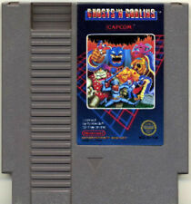 GHOST N GOBLINS and NINTENDO GAME ORIGINAL RARE NES HQ
