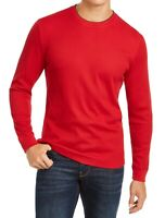 Club Room Mens T-Shirt Red Size XL Crewneck Waffle-Knit Thermal Tee $35 150