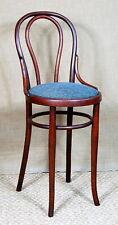 Chaise haute de boutique, caisse, comptoir THONET 1890 ca, bistrot bois courbé