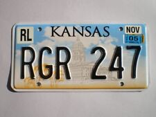 AUTHENTIC 2005 KANSAS LICENSE PLATE