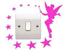Hadas Estrellas Pared Arte Pegatina De Disney Princesa Dormitorio Envolvente Enchufe Interruptor De La Luz