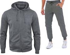 Tuta Da Uomo Maglia Felpa Uomo con Zip e Tasche e Pantalone Felpato Mod. 8801-