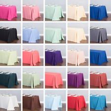 Bulk Sale 10/15/20/30/50 Pk 90 x 132 in. Polyester Rectangular Tablecloth Event