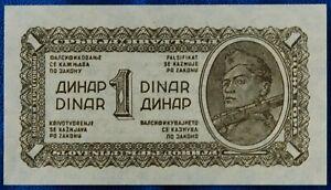 1944 Yugoslavia 1 Dinar - Partisan  - uncirculated