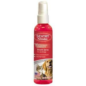 Pet Oral Hygiene Spray 4 Oz Dog & Cat Fresh Breath Plaque Odor Control Sprays