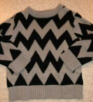 BOYS 12-18 MONTHS BLACK GRAY KNIT PULLOVER SWEATER THE CHILDREN'S PLACE ZIG ZAGS