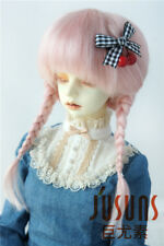 Jusuns 8-9inch Anne Doll Wig Lati Red Two Braids Mohair BJD Wig 1/3 SD Doll Hair
