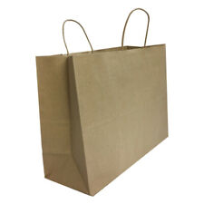 Kraft Brown Paper Recycled Vogue Shopping Gift Bags Set 50 Pc 16