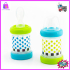 Baby Cereal Feeder Bottles Food Nurser Silicone Spoon Nipple BPA Free 4 Oz 2 Set