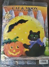 Halloween Cat & Moon Felt Wall Hanging Embroidery Kit 5127 Design Works