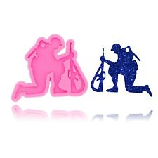 Silicone Fallen Soldier Mold DIY Jewelry Making Craft Mould Resin Epoxy Shape