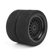 4Pcs Light Unique Foam Tires&Wheels For HSp HPI RC 1/10 on-road Racing Car BLK