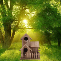 Bird House Nest Box Wood Nest House Bird Box Wood Birdhouse Garden Decor