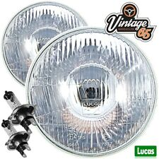 "Triumph Spitfire Genuine Lucas LHD 7"" Sealed Beam Halogen Conversion Headlights"