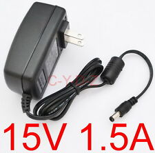 AC Converter Adapter DC 15V 1.5A Power Supply Charger US plug DC 5.5mm 1500mA