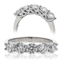 18CT White Gold 5 Stone Diamond Ring 0.30CT and Giftbox