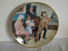 """American Family Plate Collection Family Portrait 8 1/2"""" FirstIssue Serie #21614"""