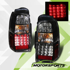 2001 2002 Toyota 4Runner LED Black Clear Brake Rear Tail Lights Lamps Pair