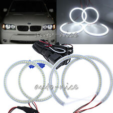 4PCS 106mm+131mm For BMW E46 ti Compact E83 X3 LED Angel Eyes Halo Rings White