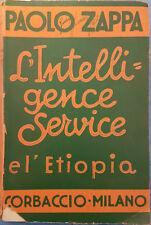 L'intelligence Service e l'Etiopia Paolo Zappa Corbaccio 1936