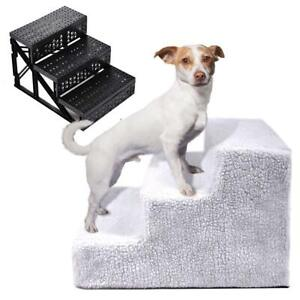 Portable Pet Stairs 3 Steps for Small Dog Cat Pet Ramp Ladder Plastic Frame Step