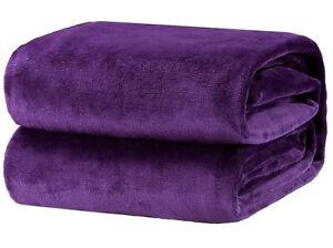 Bedsure Fleece Blanket Throw Size Lightweight Super Soft Cozy Luxury PURPLE Gift
