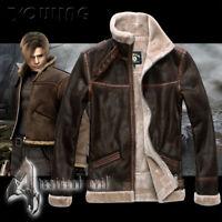 LEON KENNEDY Coat S-6XL Cosplay Costume RESIDENT EVIL 4 Jacket Unisex Outwear