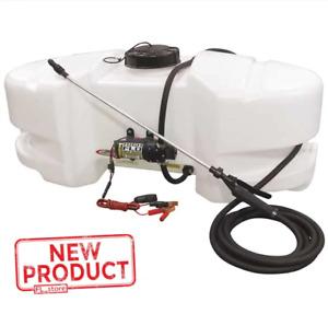 25 Gallon Spot Sprayer Adjustable Nozzle 12V Diaphragm Pump Lawn Garden  NEW