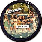 Beach Girls Wall Clock Happy Hour Buffett Margaritaville Liquor Beer Cocktail