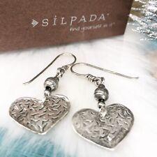 SILPADA Filigree Heart Drop Dangle French Hook Earrings W1586