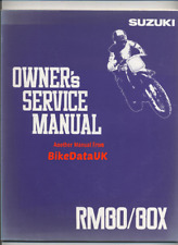 Suzuki RM80-N (1992) Factory Owners Maintenance Manual Repair Book RM 80 X BN34