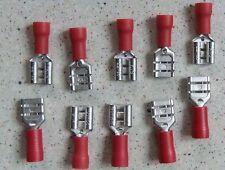 6.3mm Red Female Spade Crimp Spade Electrical Terminal Connectors