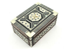 Egyptian Jewelry Box Handmade Inlaid Mother of Pearl  (FREE Shipping)