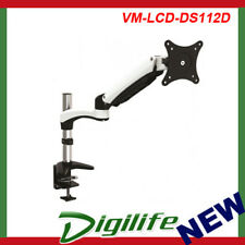 VisionMount Desk Clamp Aluminium Single LCD Monitor Arm support up to 27