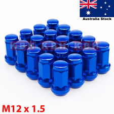 M12X1.5mm Wheel Rim Racing Lug Nuts Kit Cap Key Tool 20pcs BLUE