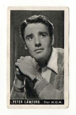 Peter Lawford 1947 Kwatta Film Stars Belgium Chocolate Card #77
