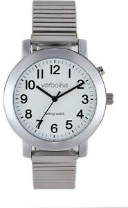 Verbalise Mens Talking Watch with Silver Expanding Strap VPR10-VHE