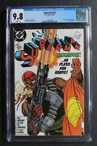 SUPERMAN #4 1st BLOODSPORT Suicide Squad-2 Movie 1987 1st Maggie Sawyer CGC 9.8