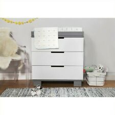 Babyletto Modo 3 Drawer Changing Table Dresser in White & Grey